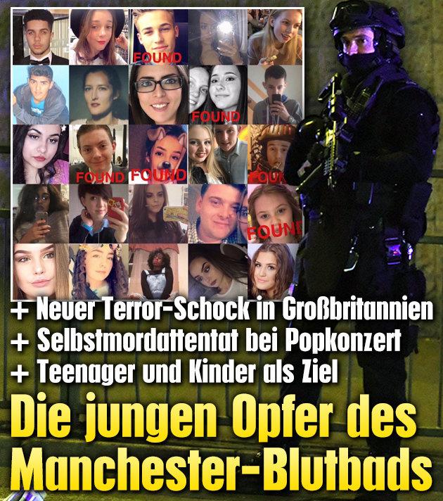 Das sind die jungen Opfer des Manchester-Blutbads (Bild: AFP/PAUL ELLIS, twitter.com)