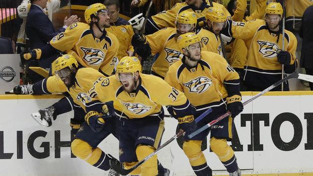 Nashville Predators erstmals im Stanley-Cup-Finale (Bild: AP)
