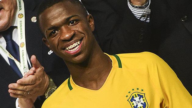 Real Madrid holt Mega-Talent Vinicius Junior (16) (Bild: AFP)
