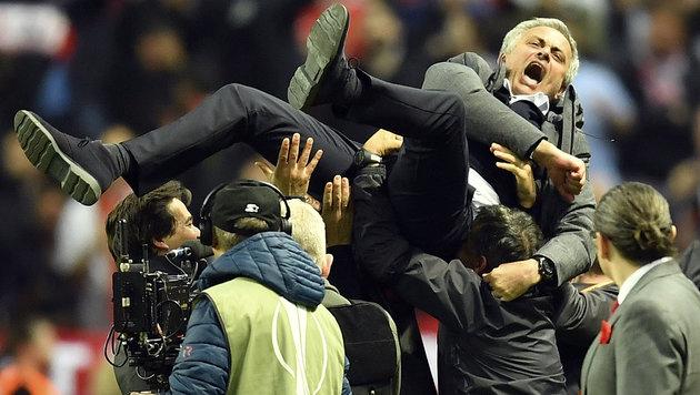 Manchester United triumphiert in der Europa League (Bild: Associated Press)