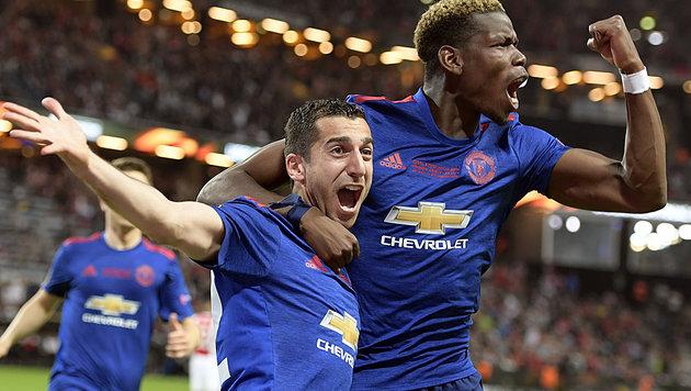 Manchester United triumphiert in der Europa League (Bild: AP)