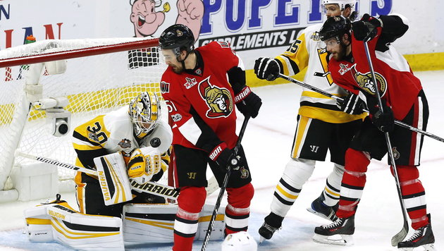 NHL: Ottawa gleicht gegen Pittsburgh aus (Bild: AP)