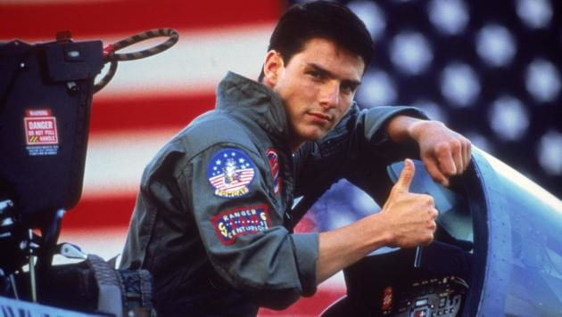 "Tom Cruise als Kampfpilot Pete ""Maverick"" Mitchell in ""Top Gun"" (Bild: CapFSD/face to face)"