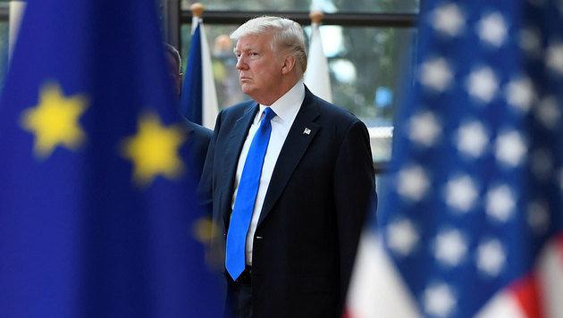 Brüssel: Trump und EU bleiben auf Konfliktkurs (Bild: AFP)