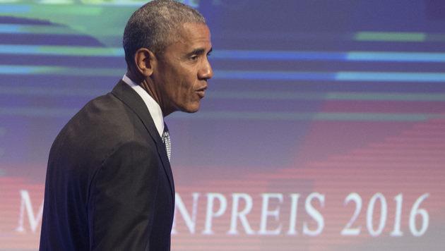 Obama ruft zum Kampf gegen Propaganda auf (Bild: AFP)
