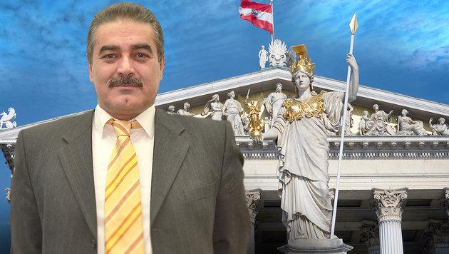 """Adnan Dincer will mit seiner """"Neuen Bewegung für die Zukunft"""" ins Parlament. (Bild: APA/ROLAND SCHLAGER, adnandincer.com, thinkstockphotos.de)"""