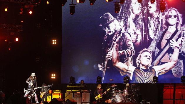 Aerosmith begeisterten am Münchner Königsplatz (Bild: EPA/Maxim Shipenkov)