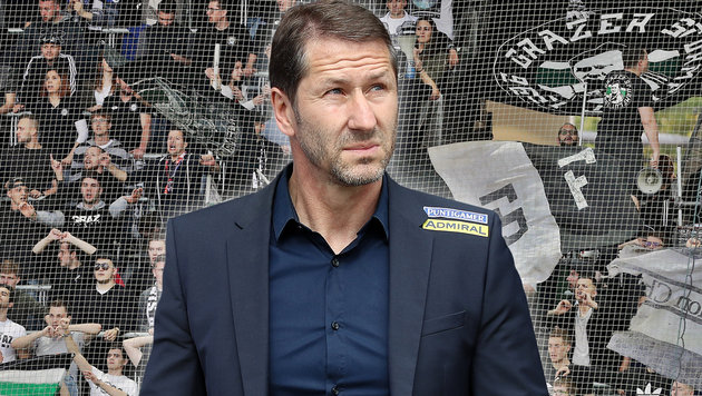 So reagiert Sturm-Coach Foda auf die Fan-Kritik (Bild: GEPA)
