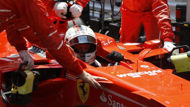 Kimi ausgebremst! Vettel triumphiert in Monaco (Bild: AP)