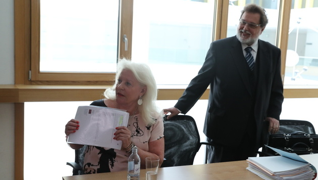 Künsteragentin Marika Lichter im Gericht in Korneuburg (Bild: Kristian Bissuti)