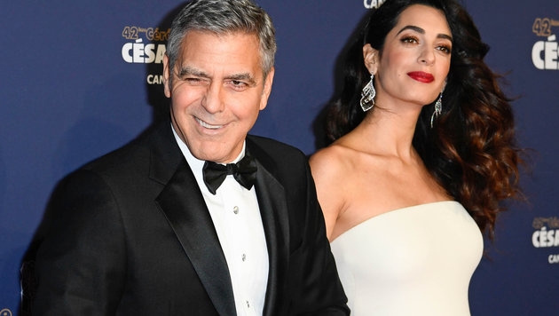 Amal und George Clooney (Bild: News Pictures/face to face)