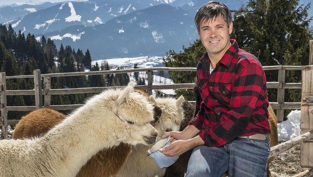 Bernhard, der kultivierte Alpakazüchter (Bild: ATV)