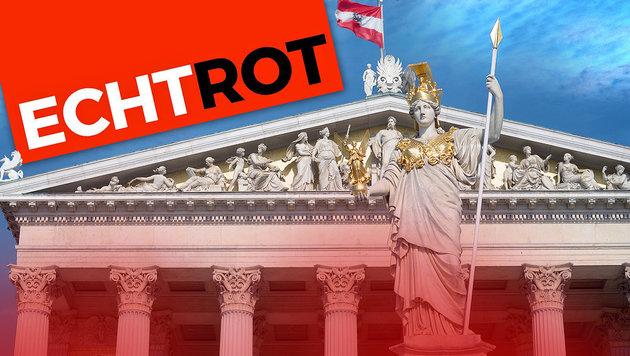 """Nationalratswahl: """"Echte Rote"""" wollen antreten (Bild: APA/ROLAND SCHLAGER, ECHTROT)"""