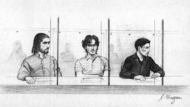 Hatun Sürücüs Brüder beim Prozess in Deutschland (Bild: dpa/dpaweb)