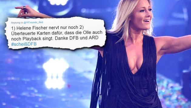 Jetzt böse Attacken auf Helene Fischer (Bild: Viennareport, Twitter.com)