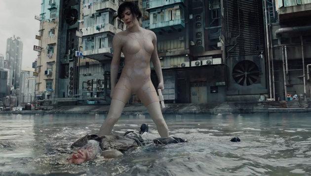 """Scarlett Johansson in """"Ghost in the Shell"""" (Bild: Viennareport)"""