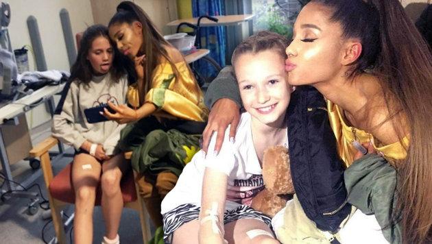 Ariana Grande besuchte verletzte Kinder in Spital (Bild: twitter.com)