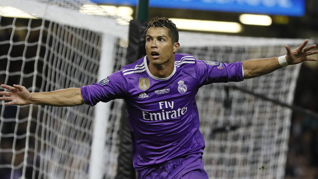 """Gewaltig!"" Cristiano Ronaldo war den Tränen nahe (Bild: AP)"