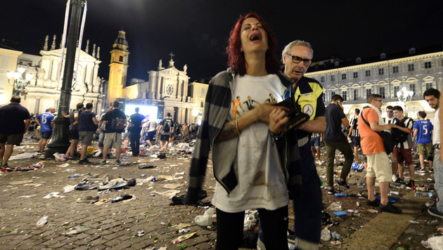 Über 1500 Verletzte bei Terror-Panik in Turin (Bild: AFP or licensors)