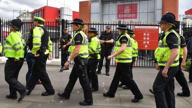Ein Großaufgebot der Polizei war vor Ort. (Bild: AFP or licensors)