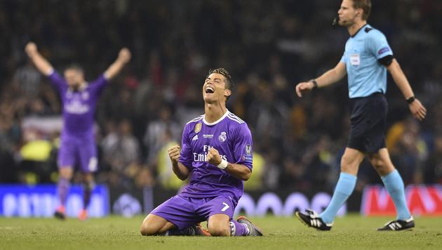 So schön feierten Ronaldo und Co. in Cardiff (Bild: AFP or licensors)