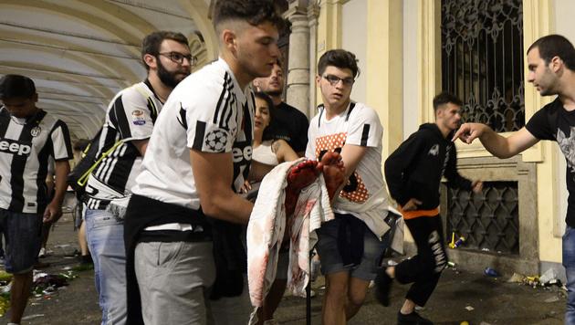Über 1500 Verletzte bei Terror-Panik in Turin (Bild: AFP)