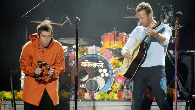Liam Gallagher (Oasis, li.) und Christ Martin (Coldplay) (Bild: AP)