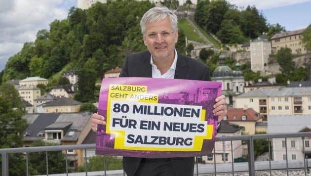 â01EMehr Transparenz gegen Steuergeld-Verschwendungâ01C, fordert NEOS-Klubchef Sebastian Huber. (Bild: Neumayr/Leo)