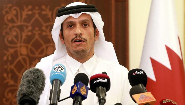 Katars Außenminister Mohammed bin Abdulrahman Al Thani (Bild: AFP/Karim Jaafar)