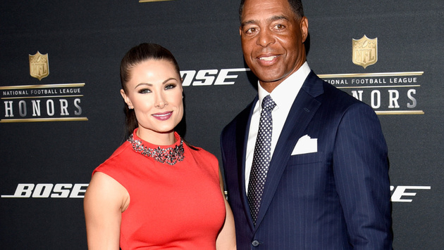 Lauren Hunter mit ihrem Ex-Freund, Football-Star Marcus Allen (Bild: 2016 Getty Images)