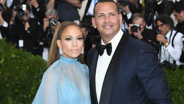 Jennifer Lopez mit Alex Rodriguez (Bild: 2017 Getty Images)