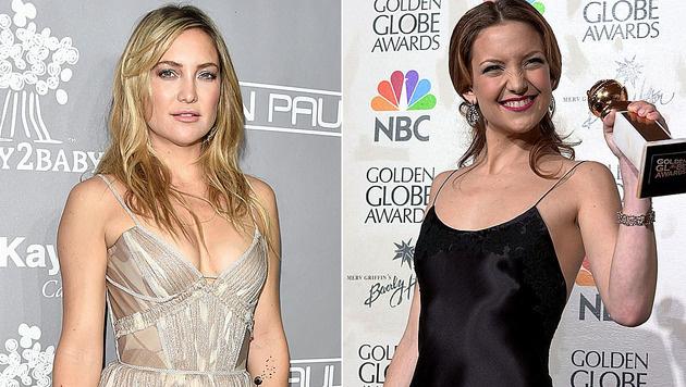 Kate Hudson 2016 und 2011: Da ist doch nicht nur die Haarfarbe anders ... (Bild: Alberto E. Rodriguez/Getty Images/AFP, AFP)