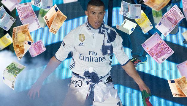 So viel verdiente Ronaldo im vergangenen Jahr! (Bild: AFP, thinkstockphotos.de)