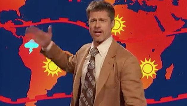 Brad Pitt macht im US-TV eine düstere Wetterprognose für die Zukunft ... (Bild: youtube.com)