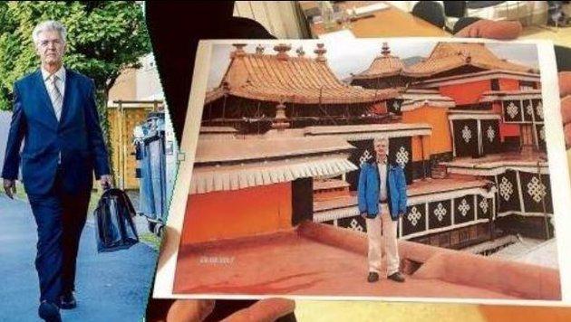 Ex-Finanzhofrat Eduard Paulus legte Foto von Chinareise zur Entlastung vor. (Bild: Markus Tschepp)