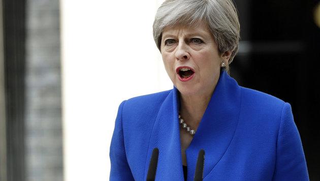 Mays Pokerspiel ist nicht aufgegangen. Die Tories diskutieren offenbar schon über eine Absetzung. (Bild: ASSOCIATED PRESS)