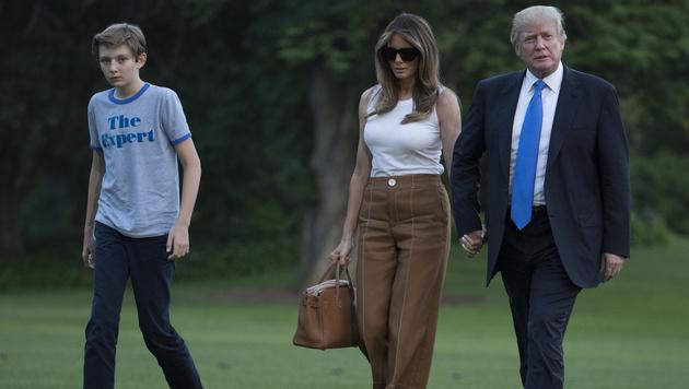 Barron ist der einzige Sohn Trumps aus der Ehe mit Melania. (Bild: AP)