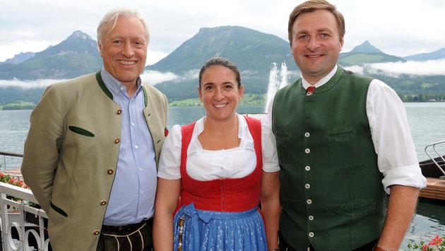 Gerhard Gössl, Rössl-Wirtin Gudrun Peter und Franz Eisl (rechts). (Bild: Klemens Fellner)