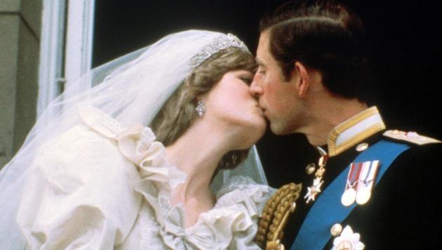 Prinzessin Diana und Prinz Charles bei ihrer Hochzeit im Jahr 1981 (Bild: Viennareport)
