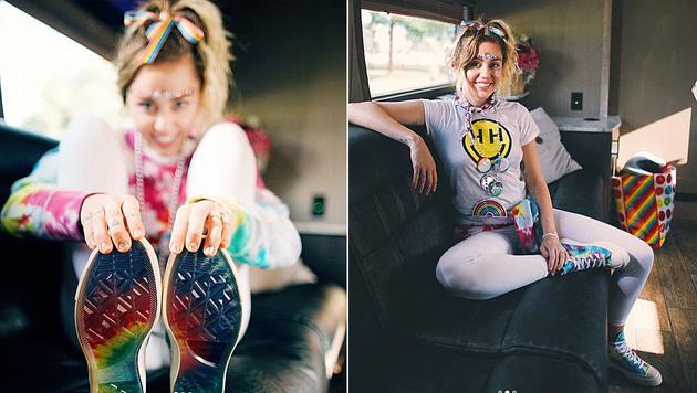 Miley Cyrus hat sich mit Converse zusammengetan (Bild: instagram.com/mileycyrus)