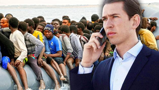 Flüchtlinge werden jetzt zentrales Wahlkampfthema (Bild: APA/BARBARA GINDL, AFP)