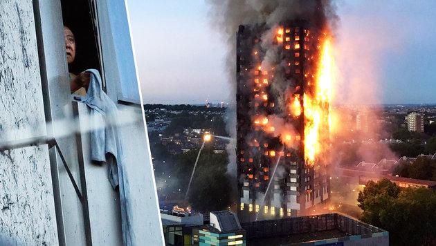 So rettete Mutter ihre Familie bei London-Inferno (Bild: AP, AFP)