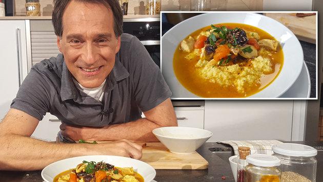 Rezept der Woche: Marokkanisches Huhn (Bild: krone.tv)