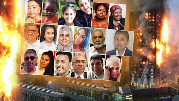 Nach Hochhaus-Inferno in London: Verwandte suchen auf Social Media verzweifelt nach den Vermissten. (Bild: facebook.com, twitter.com)