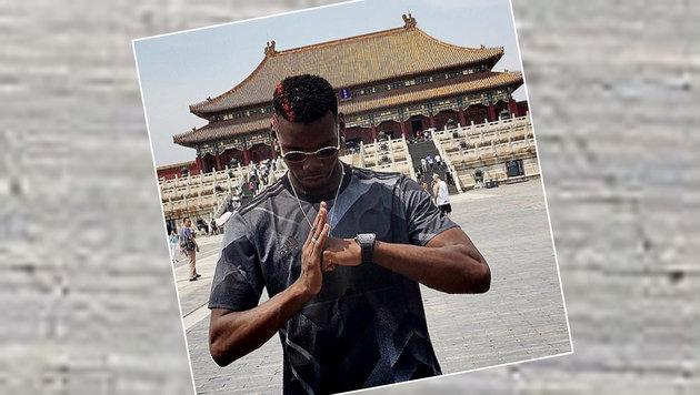 ManU-Star Paul Pogba holt sich in China Kraft für die nächste Saison. (Bild: Instagram)