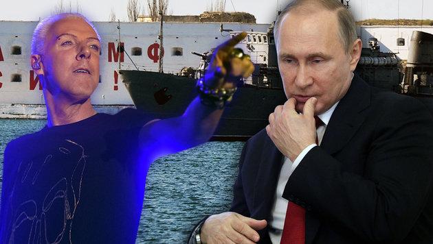 Wirbel um Auftritt von Scooter auf Putins Krim (Bild: AFP, APA/HERBERT P. OCZERET)