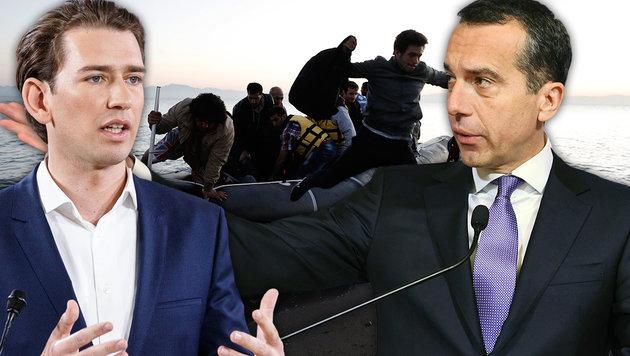 Flüchtlinge werden jetzt zentrales Wahlkampfthema (Bild: AFP, EPA, APA/HELMUT FOHRINGER)