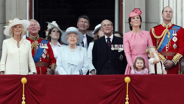 Die britischen Royals (Bild: AP)