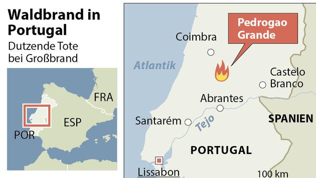 Portugal: Waldbrand tötet mindestens 60 Menschen (Bild: APA)