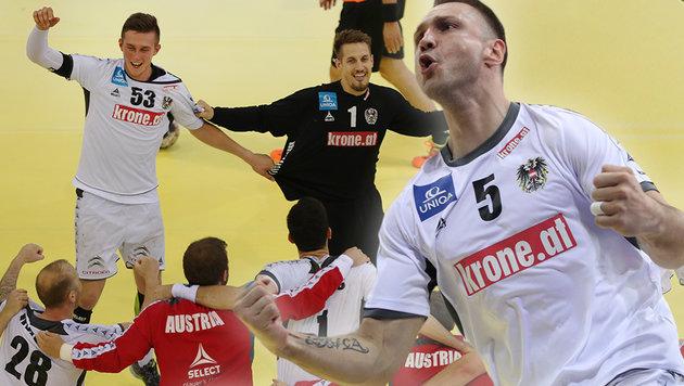 TV-Kommentator flippt bei Handball-Coup völlig aus (Bild: GEPA)